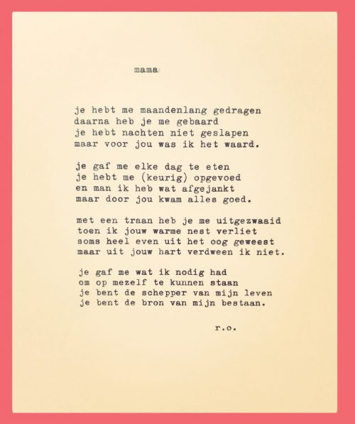 Uitgetypt Gedicht Papa Rene Oskam