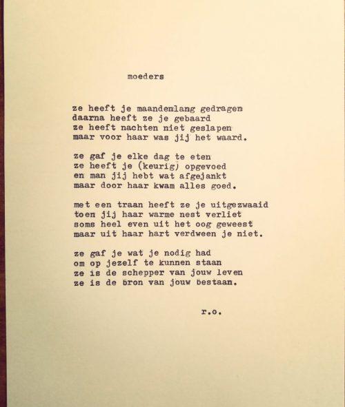 Uitgetypt Gedicht Mama Rene Oskam